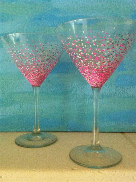 martini glass painting 1094 best images about painted wine glass on
