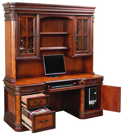 the cheshire home office credenza desk with hutch 2838