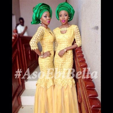 aso ebi styles yellow nigerian wedding styles aso ebi styles yellow guipure