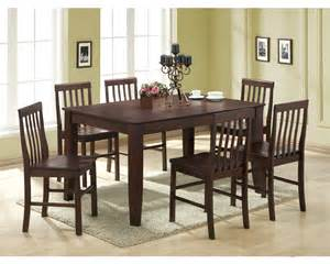 Abigail Dining Table Walker Edison Abigail 7 Solid Wood Dining Set Espresso C60s2es