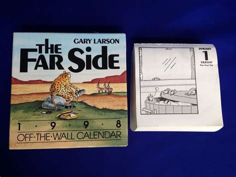 Far Side Desk Calendar by The Far Side The Wall Desk Calendar 1998 For 2015