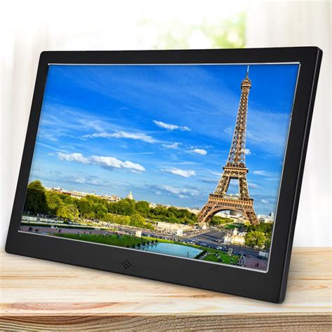 hd tft led aluminium alloy digital photo frame