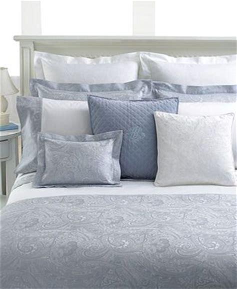 closeout ralph bedding pale blue paisley