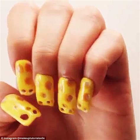 instagram tutorial nail art swiss cheese themed nail art sweeps instagram daily mail