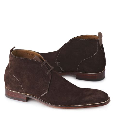 grenson smith suede chukka boots in brown for lyst
