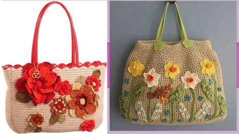 como hacer carteras tejidas a crochet mas carteras con flores tejidas a crochet grandes y lindas