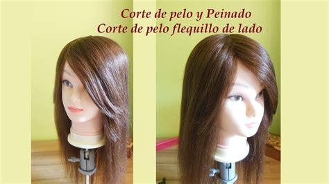 corte de pelo flequillo de lado c 243 mo cortar el flequillo de lado corte de flequillo