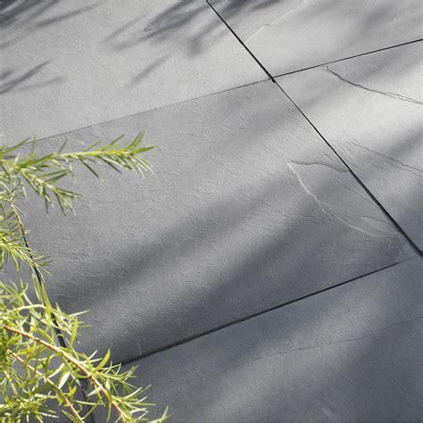terrasse 60x40 dalle gaya ardoise noir ep 10 mm x l 60 x l 60 cm