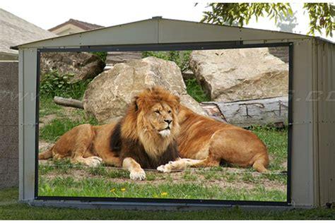 backyard projector screen diy elite diy portable outdoor rear projection screen screen
