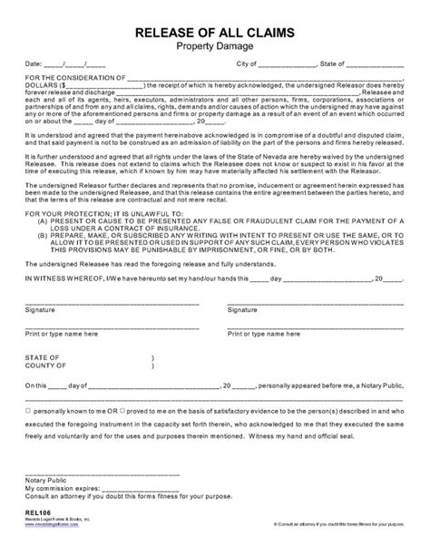 26 Unique Address Of Property Damage In Arizona Dototday Com Claim Release Form Template
