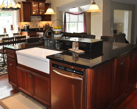kitchen island with black granite top black galaxy granite installed design photos and reviews