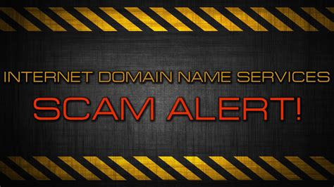 internet domain  services scam youtube