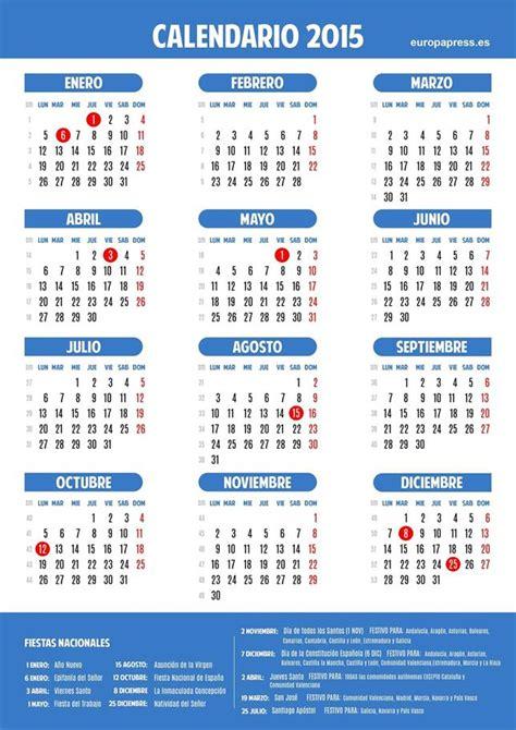 Calendario Oficial 2015 Carta De M 233 Xico Calendario Laboral De Espa 241 A 2015