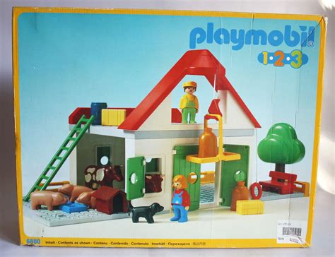 Playmobil 1 2 3 Large Farm vintage 1990 playmobil 1 2 3 6800 large farm