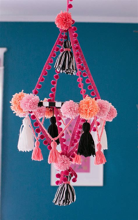 Isn T This Adorable You Re Looking At A Chandelier Mobile Pom Pom Chandelier