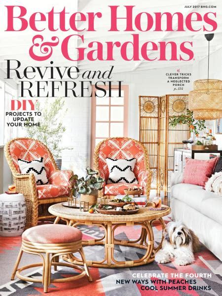 better homes and gardens usa july 2017 books pics