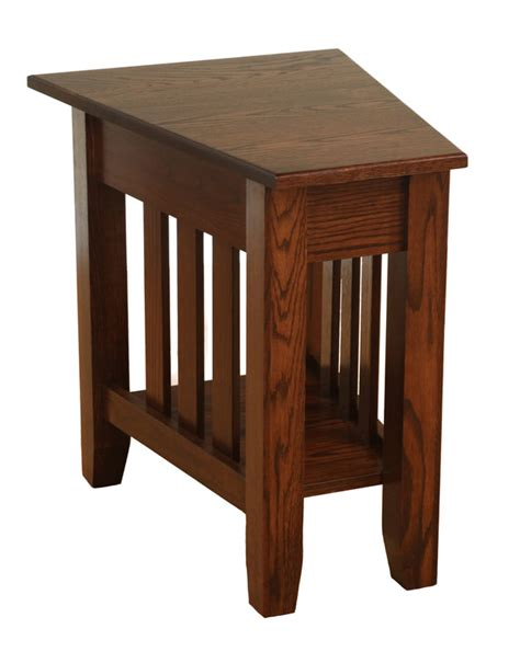 mission accent table mission wedge end table ohio hardword upholstered
