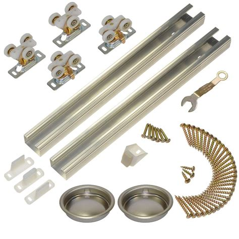 Closet Door Hardware Track Johnson Hardware 111sd Series 72 In Track And Hardware Set For 2 Door Bypass 111722dr The