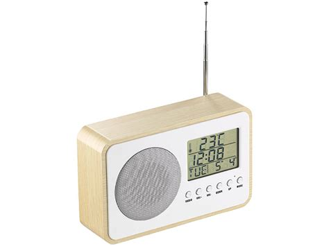 design radiowecker auvisio design fm radiowecker mit digitaler frequenzwahl