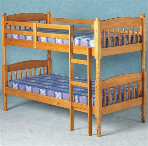 Albany Solid Pine Bunk Bed Splits Into 2 Single Bedframes Bunk Beds Pine