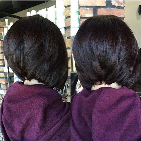 black bob stack hairstyle best stacked bob hairstyles on haircuts