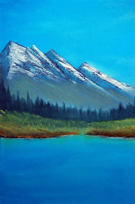 bob ross painting attempts mountain range bob ross painting attempt by surehit123 on