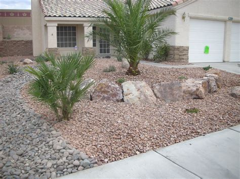 Yard With Decorative Rock Landscaping Ideas Blooming by Front Yard Desert Landscape Designs In Las Vegas Nv Photos