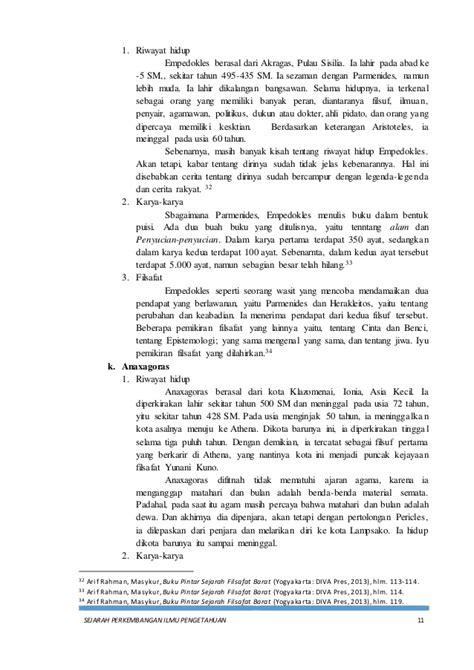 makalah sejarah perkembangan ilmu pengetahuan zaman