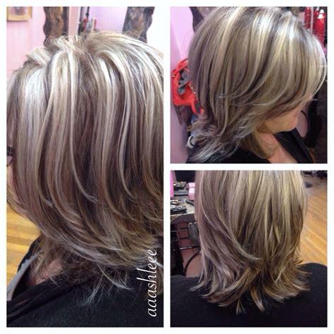 platium highlights on brown hair ashy blonde platinum highlights lowlights hair