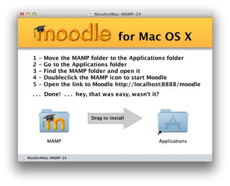 php tutorial mac os x installation package for os x moodledocs