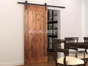 Barn Door Hardware Interior Aliexpress Buy Sliding Barn Door Hardware Track 1 5m 1 83m 2m 2 5m Track For Selection