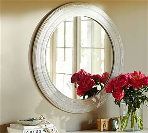 sadie west bathroom sadie round wood mirror pottery barn