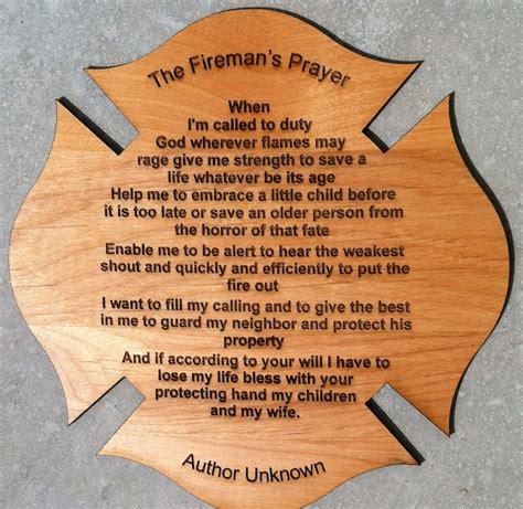fireman s prayer personalized poem gift for firefighter