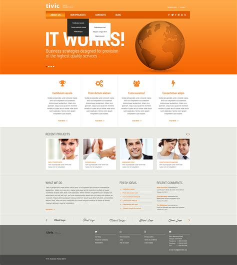 web templates for advertising agency marketing agency responsive website template 44573