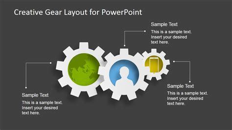 creative gear layout powerpoint template slidemodel