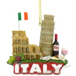italy icons and landmarks christmas ornament italian