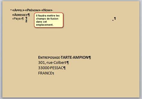 Modele Adresse Enveloppe creer adresse sur enveloppe mais inverser destinataire et