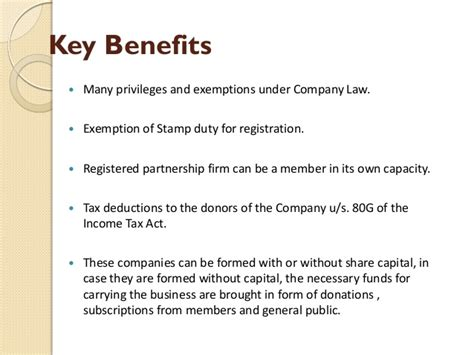 section 8 benefits section 8 of companies act 2013