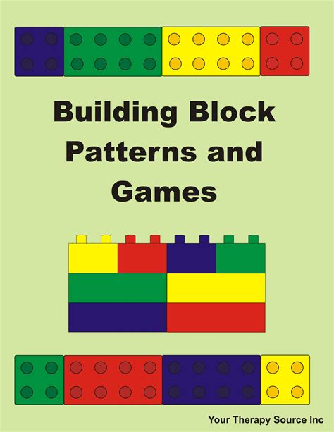 Building Block Patterns And Games Your Therapy Source Building Blocks Template