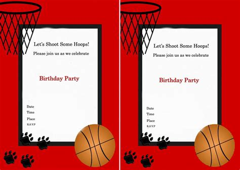 printable birthday cards basketball basketball birthday invitations gangcraft net