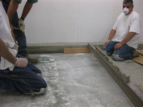 Standing Water In Floor Drain by Creating A Pitch To A Concrete Floor Drain In A Fish