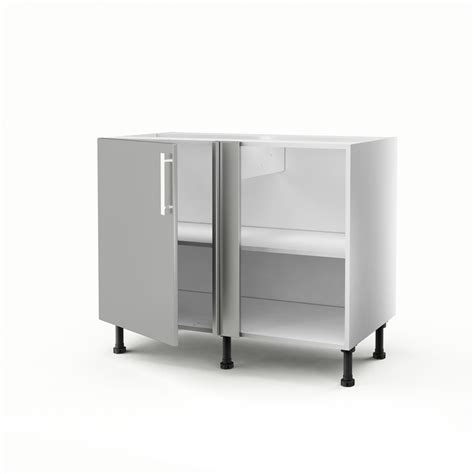 meuble d angle de cuisine meuble de cuisine bas d angle gris 1 porte d 233 lice h 70 x l 100 x p 56 cm leroy merlin