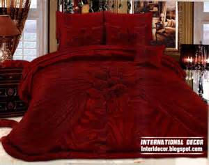 Red And Black Duvet Set Royal Red Bedspreads Luxurious Models 2014