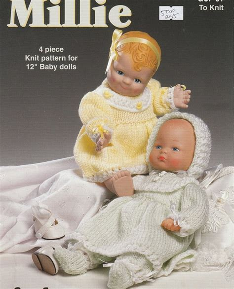 free 12 inch doll knitting patterns doll knitting pattern for 12 inch baby dolls
