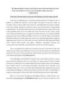 Work Essay by Teamwork Essay