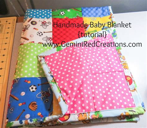 handmade baby blanket tutorial geminired creations
