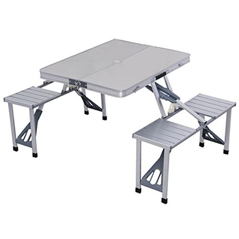 stansport heavy duty picnic table and bench set compare price to folding picnic table with seats