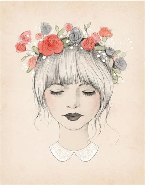 Fashion illustrations flower illustrations illustration fashion