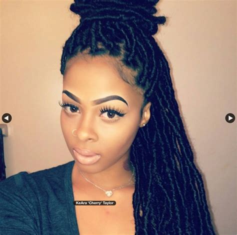african faux locs hairstyle marley hair fake dreads locs hairstyles pinterest locs dreads