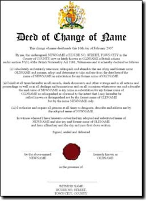 child deed poll template opinions on deed poll